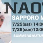 h.NAOTO 20th M-SHOP in 札幌 7/25-7/26
